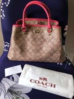 NEW Authenticity Coach Signature Handbag Medium Size