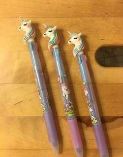 🚚 Unicorn 🦄 Tri-colour pen