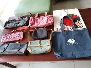 Assortment of hand bags