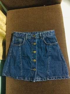 Buttondown A line Skirt
