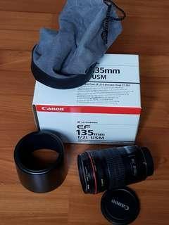 Canon sharp prime lens 135mm F2.0