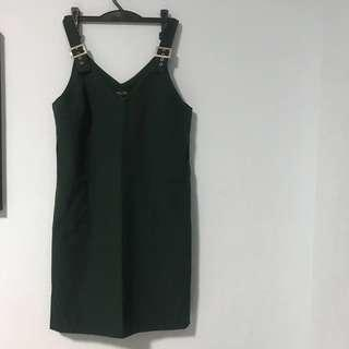🚚 Shift Dress (green and black) / overalls