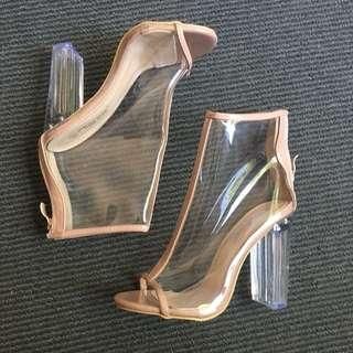 Clear boots\ PVC