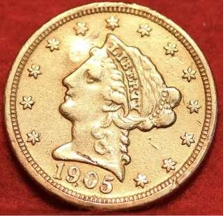 1905 Us gold coin