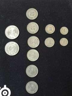 Old singapore coins vintage