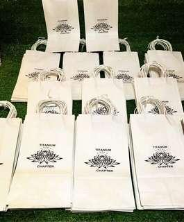 Titanium Chapter Size 4 Customized Paper Bags