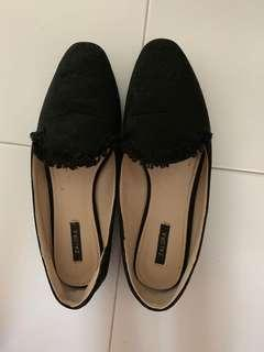 Zalora black loafers