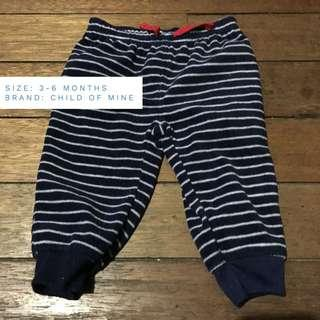 Carters 3-6mos baby jogging pants