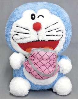 日本直送景品~多啦A夢公仔Doraemon SL size plush toy machine roll. 3 A. Stock bag