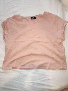 Basic pastel pink short top - size small