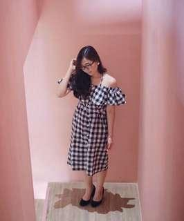 Eva checkered dress