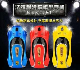 Niuwan/Newman F1 Mini Telecom Small Cell Phone Child Personality Cartoon Car Sports Car Super Pupils Mobile Phone