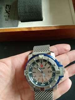 Expedition Exp 302 MA silver blue(rare) automatic like new in box garansi