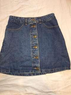 Blue denim skirt - size 6/8