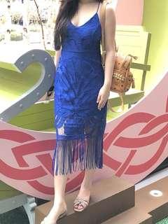 TASSEL BLUE DRESS