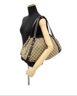 Gucci Shoulder Bag- GG Canvas 130736