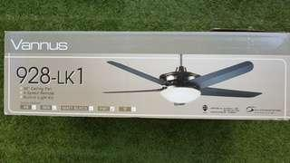 * BNIB Ceiling Fan 56 inches 4 speeds 5 blades with built-in light kit and remote control