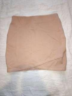 Nude mini skirt - supre size XS