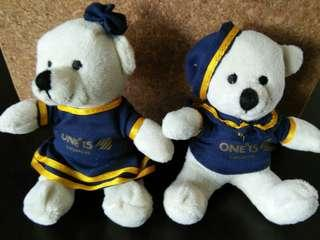 Mini sailor bears (a pair)