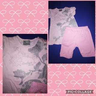 Bundle garfield blouse and shorts
