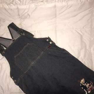 Overall bear jeans