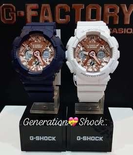 🚚 COUPLE💝PAIR SET : 1-YEAR OFFICIAL WARRANTY: 100% ORIGINAL AUTHENTIC G-SHOCK S-Series : Best Gift For Most Rough Users & Unisex : GMA-S120MF-7A2 / GMA-S120MF-2A2 / GMAS120MF-2A2 / GMAS120MF-7A2 / GSHOCK / BABYG / CASIO / WATCH