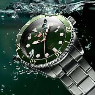 💚Green Hulk Seiko 5 Sports Diver SRPB93J1 MADE IN JAPAN 🇯🇵 SRPB93 with FREE DELIVERY 📦 Automatic