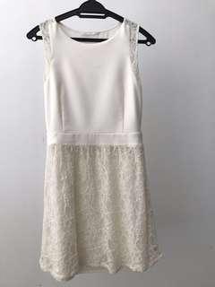 🆓Postage* Off-White/Beige Dress #MMar18