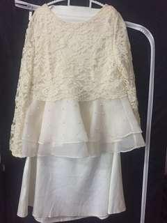 Peplum and skirt