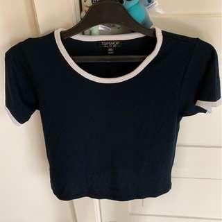 Topshop navy tshirt
