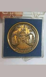 Vintage old disneyland medal medallion