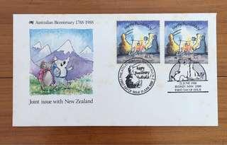 1988 Australia-New Zealand Joint Issue FDc