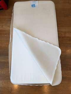 Mothercare baby mattress with mattress protector
