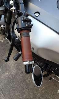 Leather grip wrap