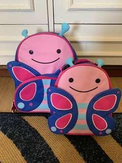 Skip Hop Zoo Backpack and Lunchies (Butterfly)