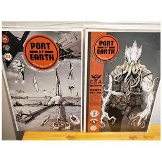 Port of Earth #1 Cover A + B  NM Optioned by Amazon!