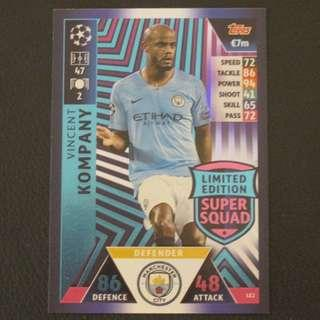 18/19 Match Attax Champions League Limited Edition - Vincent KOMPANY #Manchester City