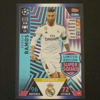 18/19 Match Attax Champions League Limited Edition - Sergio RAMOS #Real Madrid