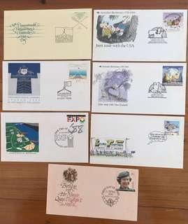 Set of 1988 Australia FDC's