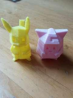 [慶祝正評破200] Pokemon 3D Printing 比卡超 & 皮皮 Figure