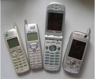 無功能 中古~日系 手機  Japan Dummy cell Phone  4Pcs.
