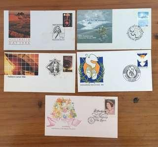 Set of 1986 Australia FDC's