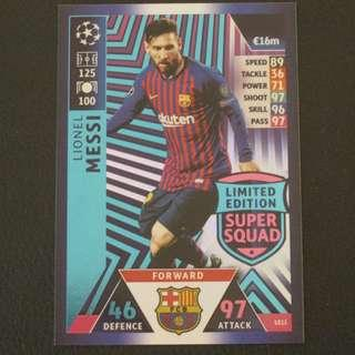 18/19 Match Attax Champions League Limited Edition - Lionel MESSI #Barcelona