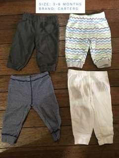 SET: Carters 3-6mos pants
