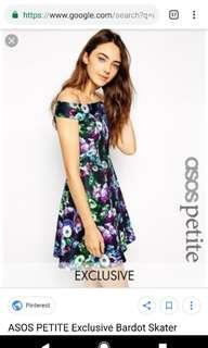 Floral Bardot Skater Dress