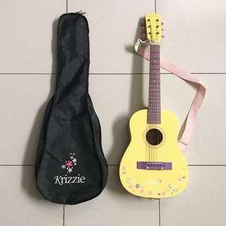 Krizzie yellow mini guitar