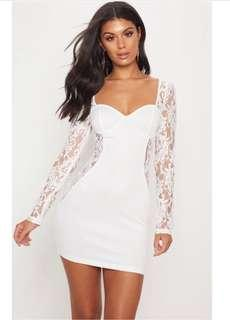 New, white sexy lace dress size 8