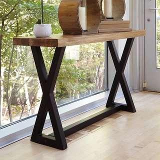 TYLER Modern Industrial Solid Wood Display Stand