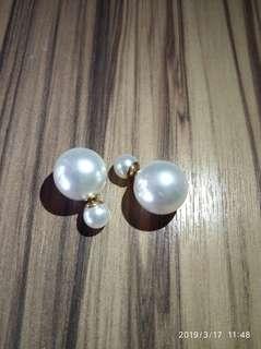 珍珠耳環 大細珠