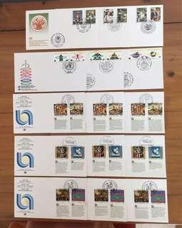 Whole Year Of 1993 United Nations FDC's